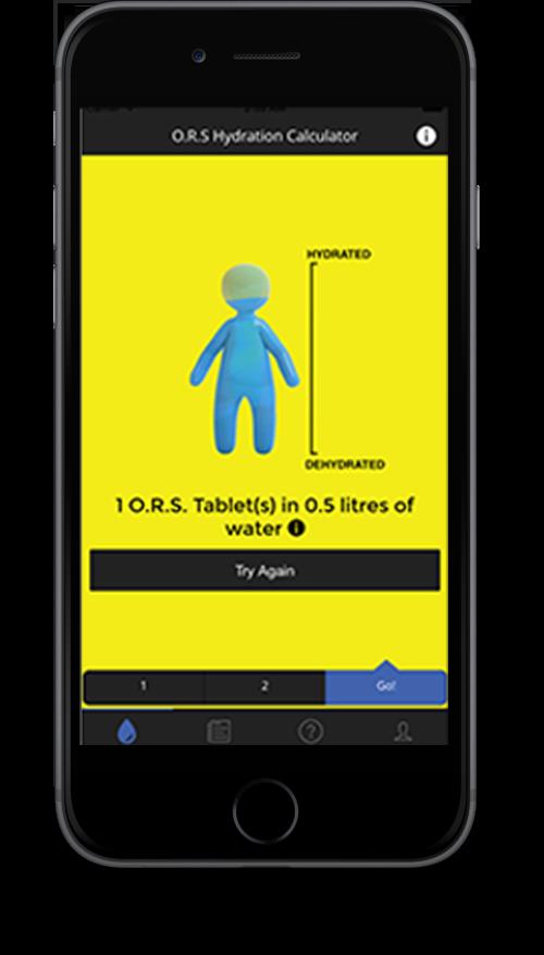 水分補給計算アプリイメージ